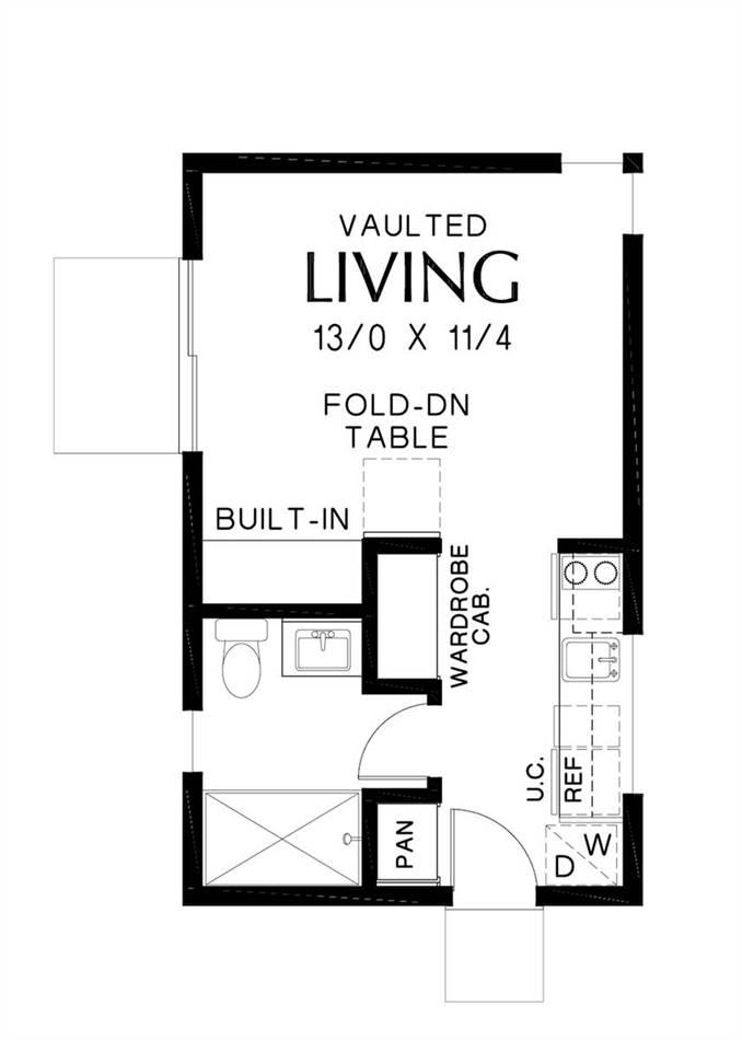 Main Floor Plan image of Bowman House Plan