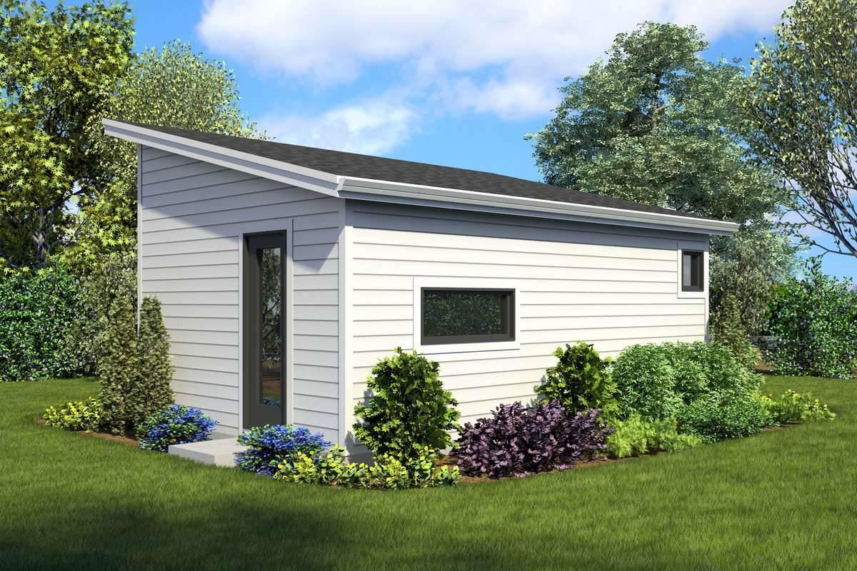 Rear Rendering image of Bowman House Plan