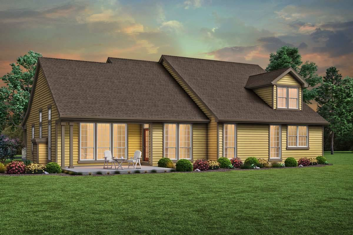 Rear Rendering image of Jersey House Plan
