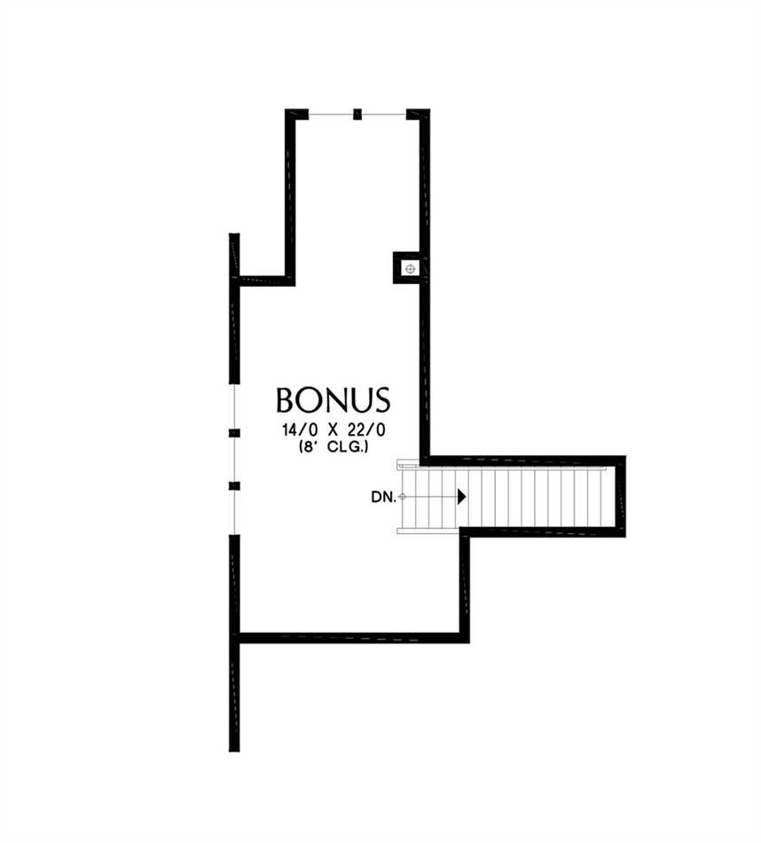 Upper Floor Plan image of Jersey House Plan