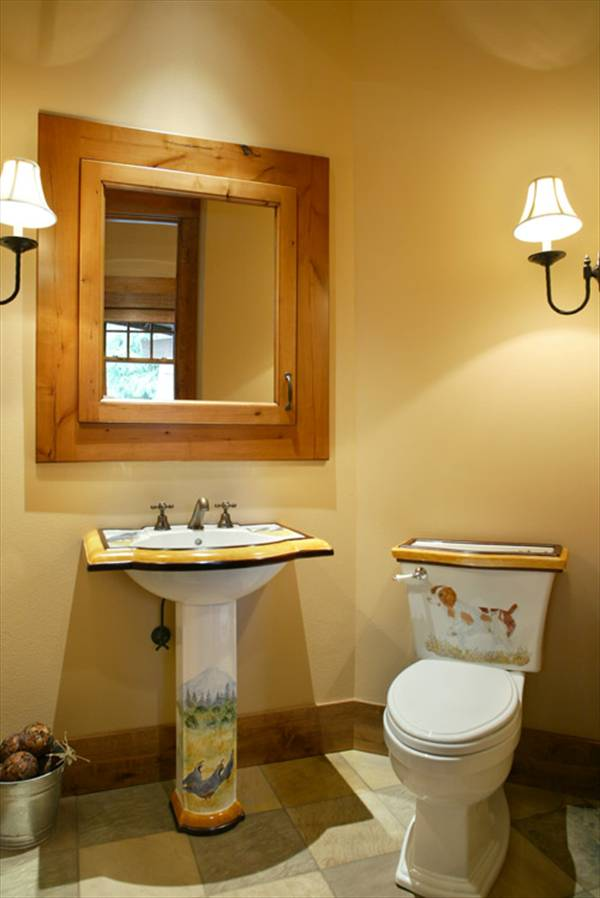 Powder Room by DFD House Plans