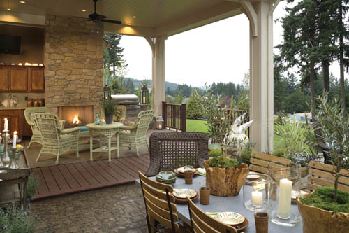 Outdoor Kitchen image of Wayne House Plan
