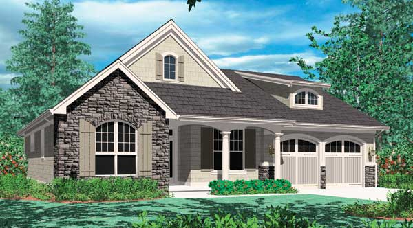 Front Rendering image of Hollis House Plan