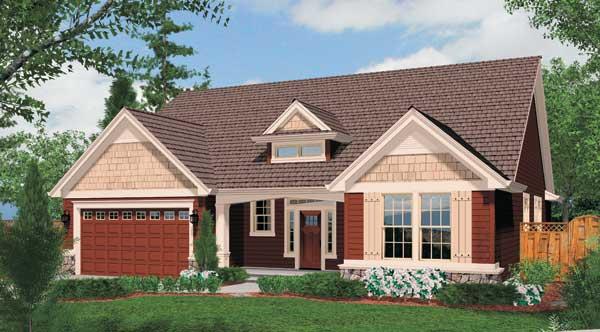 Front Rendering image of Clarksburg House Plan
