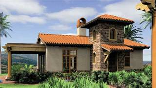 Mediterranean and Tuscan Home Plans by DFD House Plans