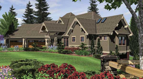 Craftsman House Plan With 4 Bedrooms And 3.5 Baths