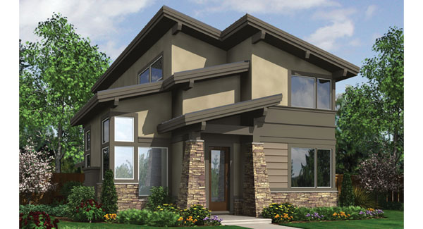 Contemporary House Plan With 3 Bedrooms And 2 5 Baths Plan 8537