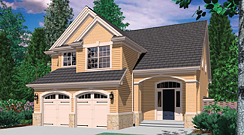 Front Rendering image of Dundee House Plan