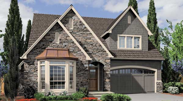 Front Rendering image of Griswold House Plan