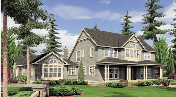 Front Rendering image of Stoneham House Plan