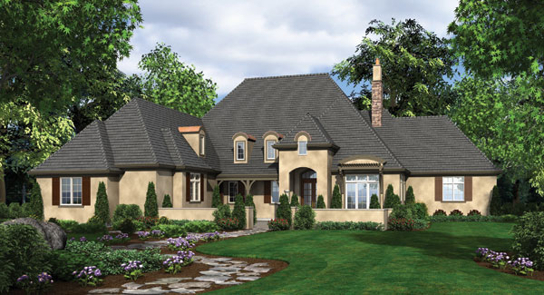 Front Rendering image of Wayne House Plan