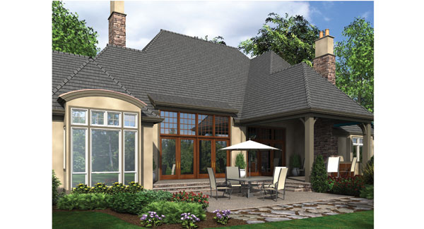 Rear Rendering image of Wayne House Plan