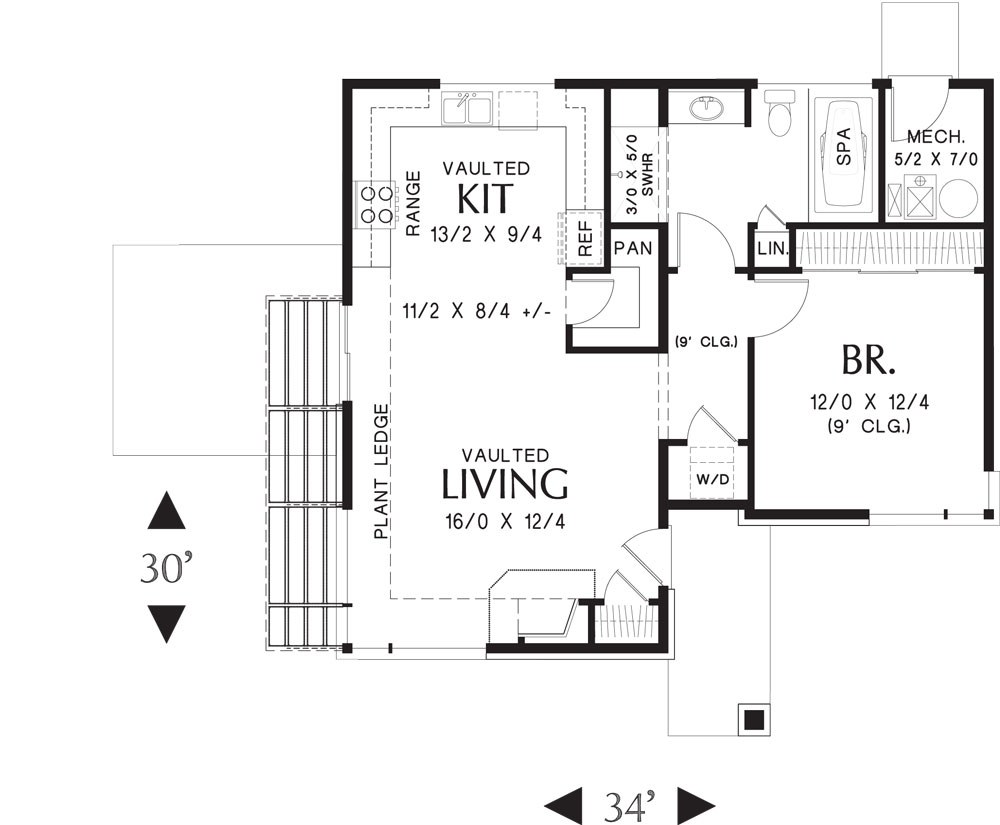 Beach House Plan With 1 Bedroom And 1 5 Baths Plan 5178