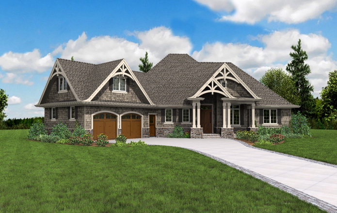 Craftsman House Plan with 3 Bedrooms and 2.5 Baths - Plan 5180
