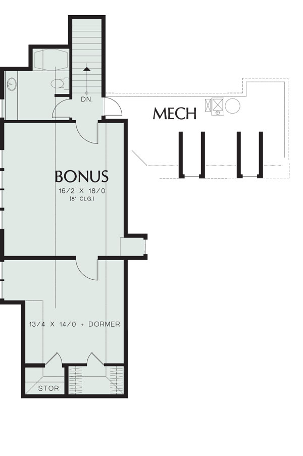 Second Floor Plan image of Wayne House Plan