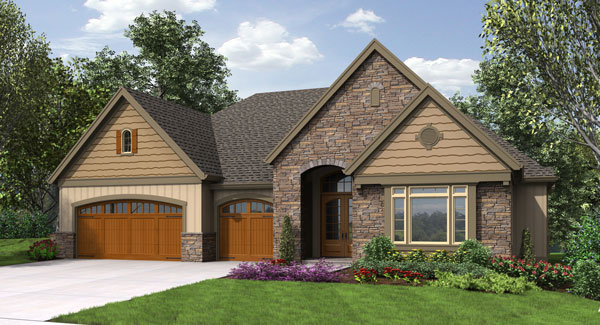 Craftsman House Plans 3 Car Garage