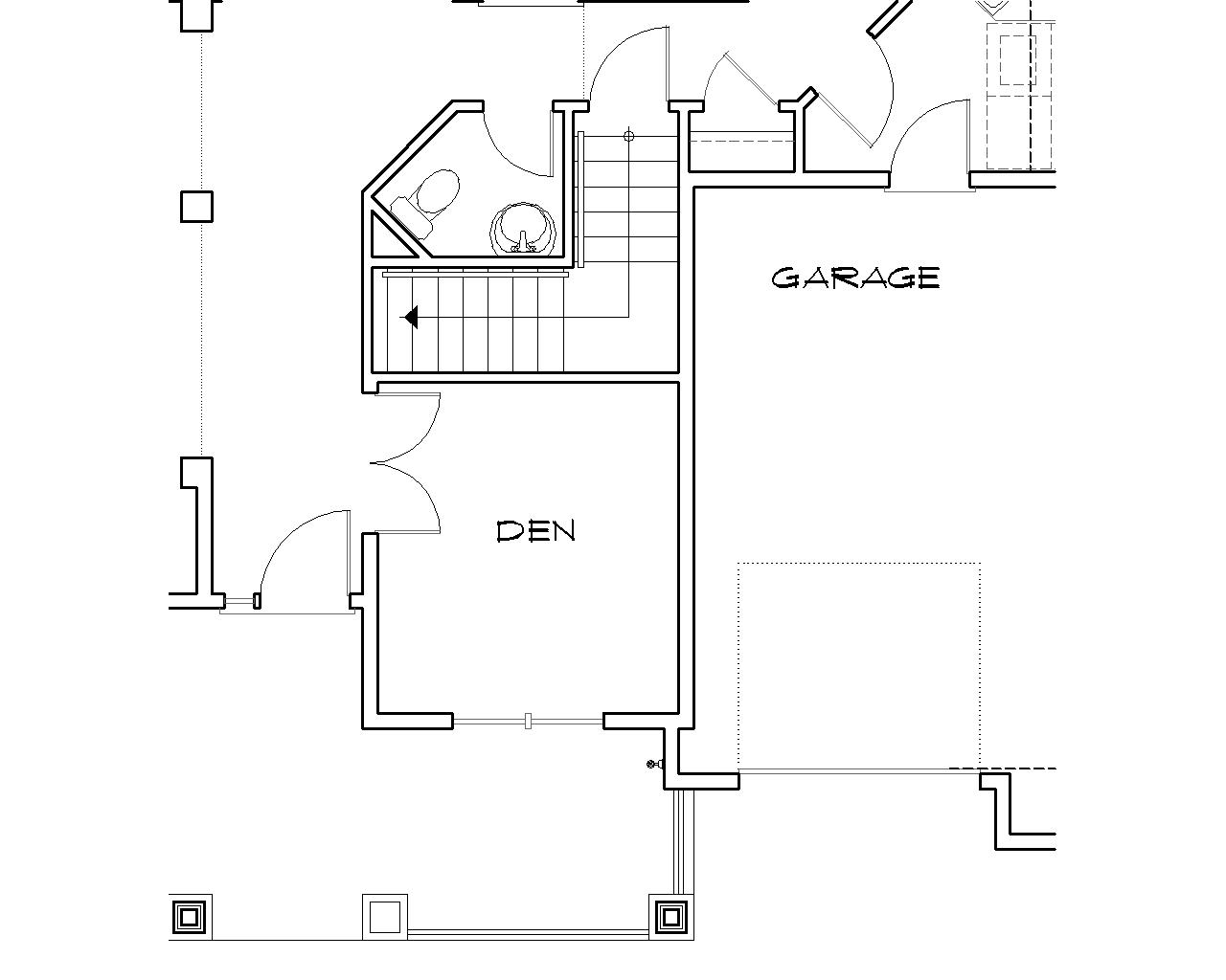 Basement Stair Location by DFD House Plans