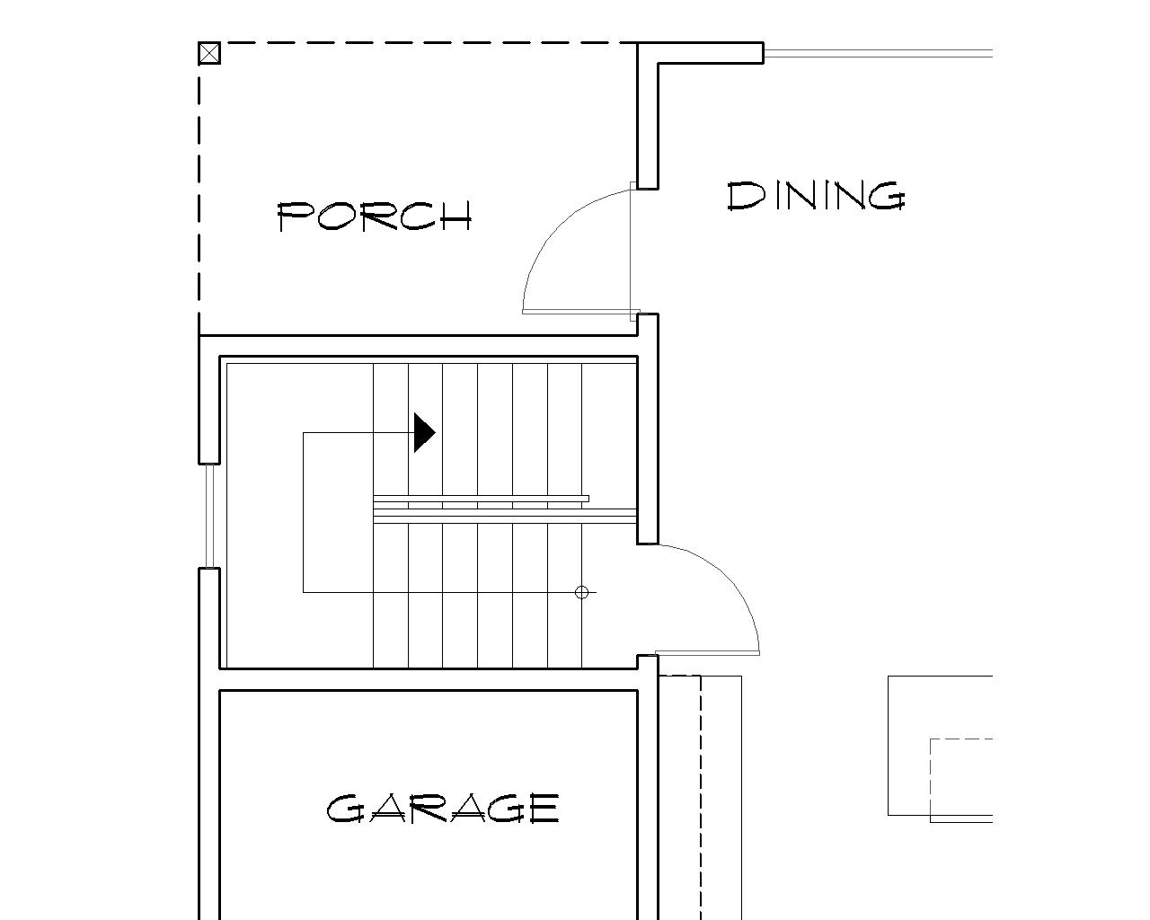 Basement Stair Location image of Phillipston House Plan