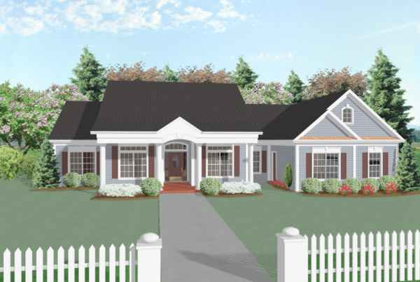Front View image of The Oconee House Plan
