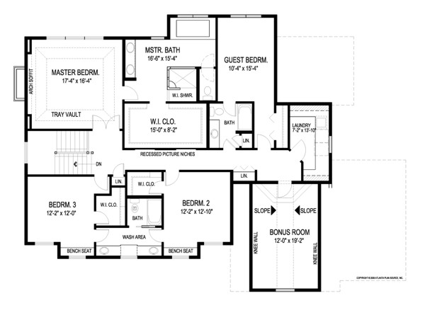 Craftsman House Plan with 4 Bedrooms and 3.5 Baths - Plan 8993