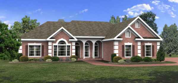 Front View image of The Oak Lane House Plan