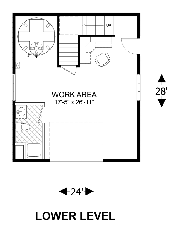 Lower Floorplan image of Utility Independence Control Center House Plan