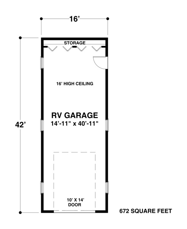 Garage Plan 1683 – Detached Rv Garage Plans