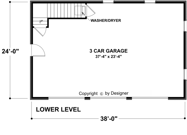 Garage Level by DFD House Plans
