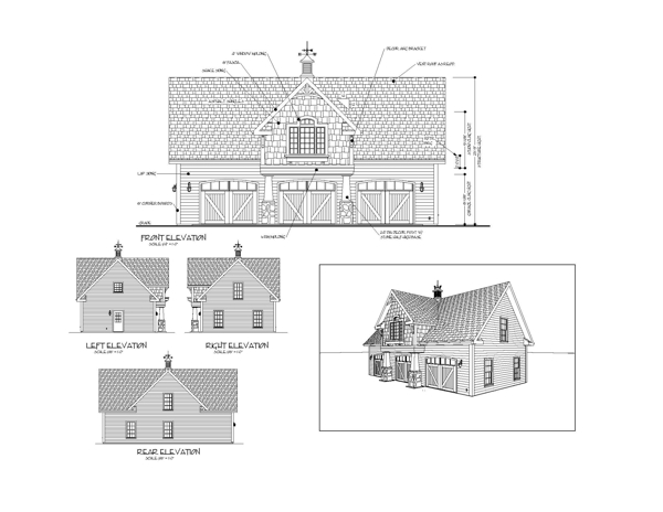 All Elevations by DFD House Plans