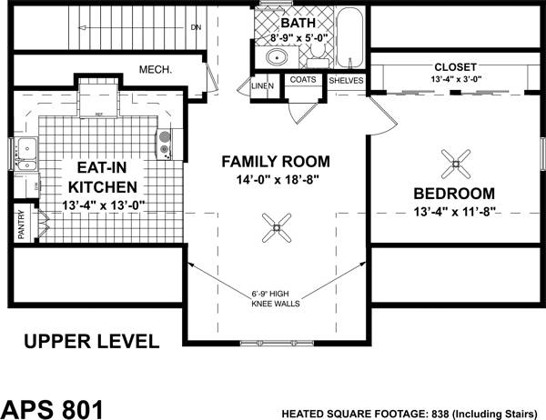 Living Area Floorplan by DFD House Plans