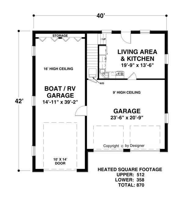 Amazingplans Com Garage Plan Aps0704: Plan 3068
