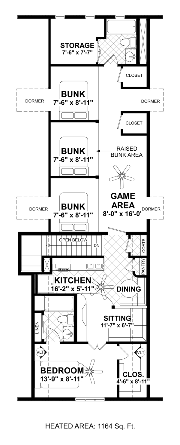 Upper Floorplan image of Shadow Mountain Chalet House Plan