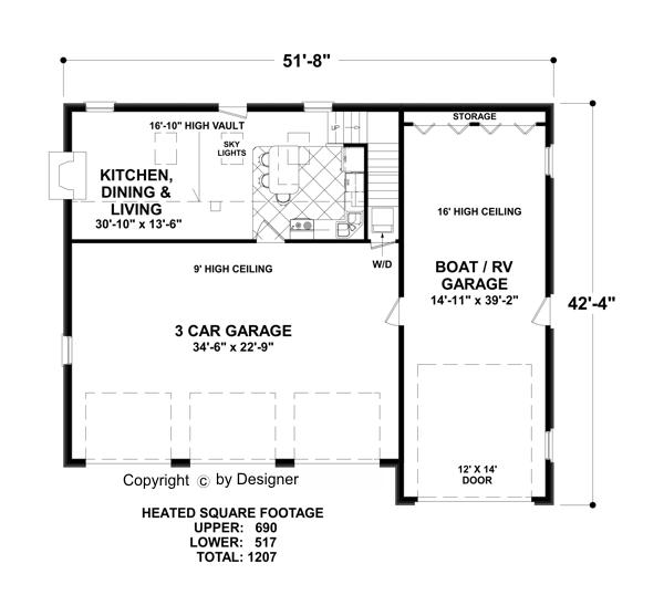 Garage plan 3328 for 4 car garage plans with living quarters