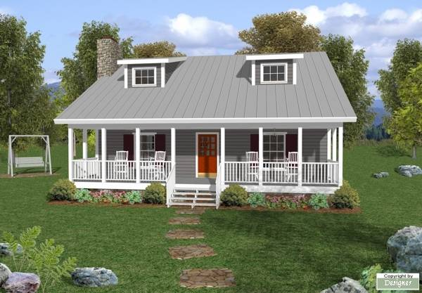 House Plan 6619: One Story House Plans with Porch