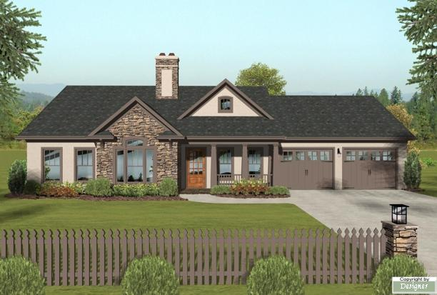 Front Elevation image of The Hidden Meadow House Plan