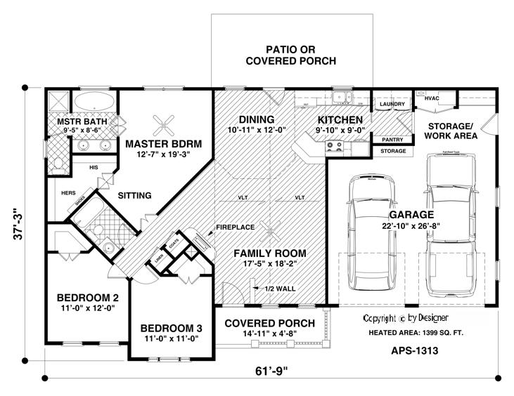 Ranch House Plan with 3 Bedrooms and 2.5 Baths - Plan 3063 on 1 bedroom house blueprints, duplex ranch house plans, commercial ranch house plans, 1 bedroom log home plans, cottage ranch house plans, bungalow ranch house plans, 7 bedroom ranch house plans, 1 bedroom apartment floor plans, 1 bedroom duplex plans, 12 bedroom ranch house plans, first floor master house plans, 6 bedroom ranch house plans, 8 bedroom ranch house plans, one bedroom house floor plans, 30x30 house plans, 2 bedroom loft house plans, small one-bedroom floor plans, best one bedroom house plans, garden view ranch house plans, 4 bed ranch house plans,