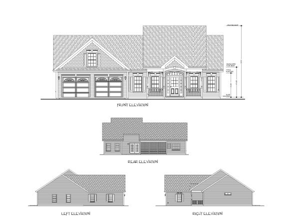 All Elevations image of The Small Country Cottage House Plan