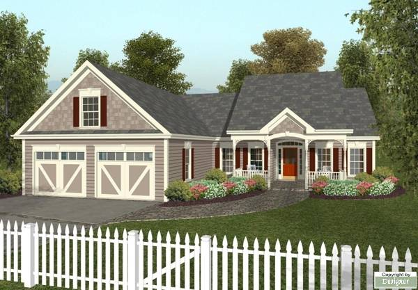 Rendering image of The Small Country Cottage House Plan