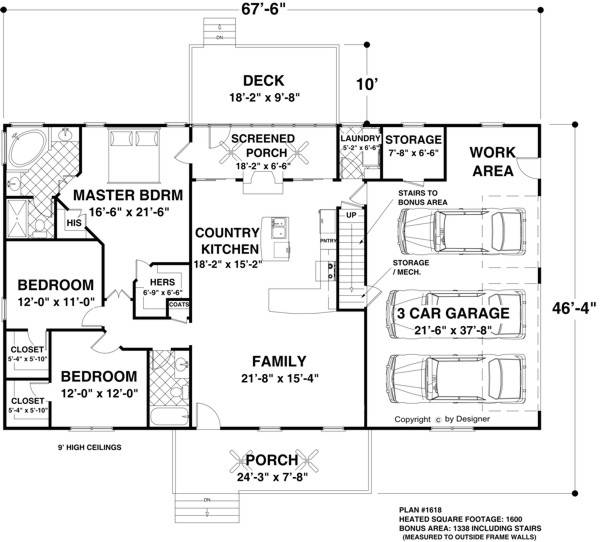 Floorplan image of The Applewood House Plan