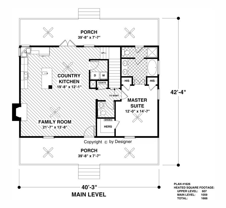 Attractive Main Level Floor Plan Image Of The Greystone Cottage House Plan Design Ideas