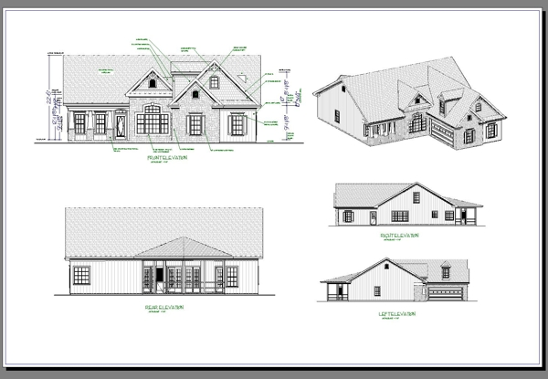 All Elevations image of The Aberdeen House Plan