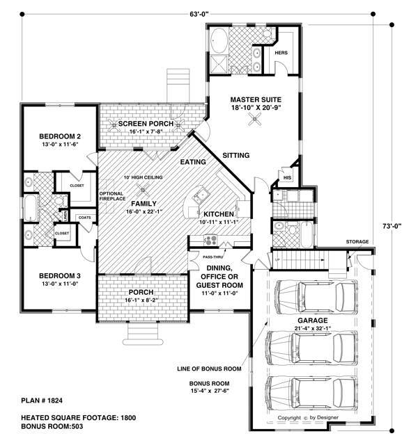 Floorplan image of The Wellsley Cottage-S House Plan