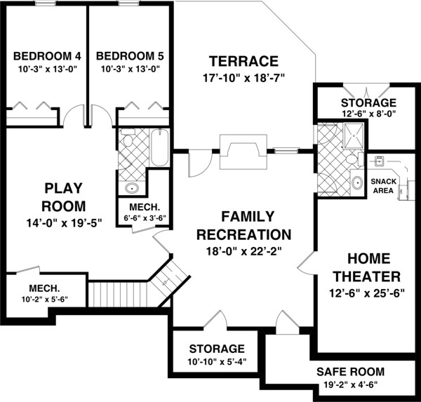 Country House Plan With 3 Bedrooms And 2 5 Baths Plan 8435