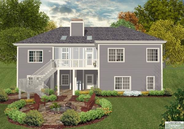 Rear Elevation image of The Falls Church House Plan