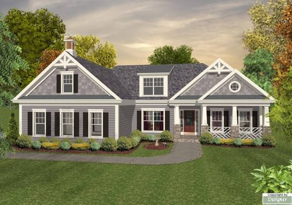 Front Elevation image of The Falls Church House Plan