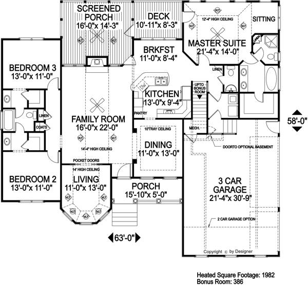Southern House Plan With 3 Bedrooms And 2 5 Baths Plan 6306