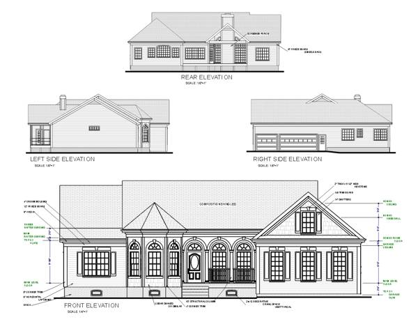 Southern House Plan with 3 Bedrooms and 2.5 Baths - Plan 6306