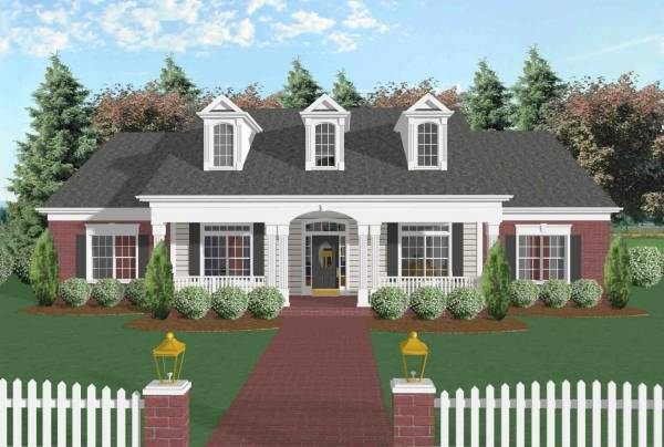 Front View by DFD House Plans