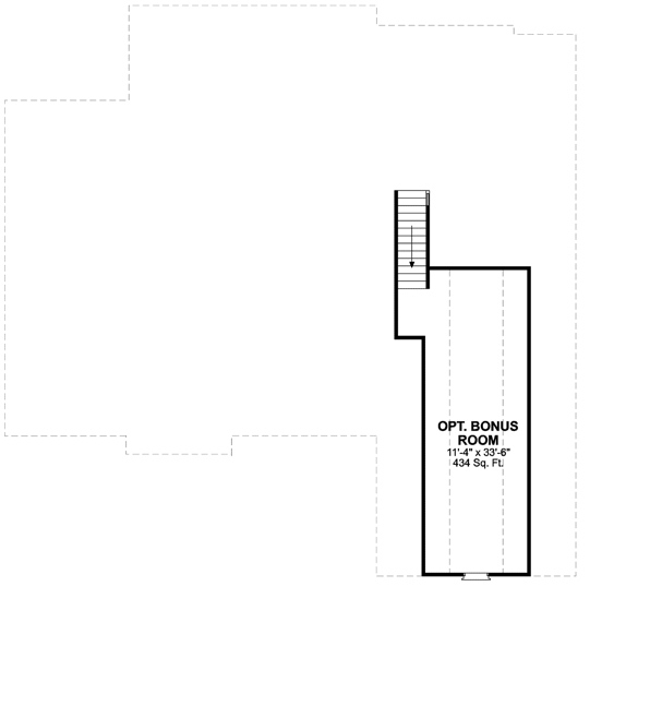 Bonus Room image of The Oak Lane House Plan