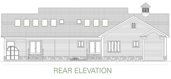 Rear Elevation image of Award-Winning Green Design House Plan